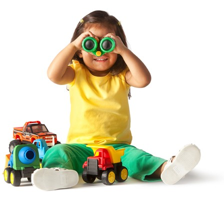 Toddler play with toys